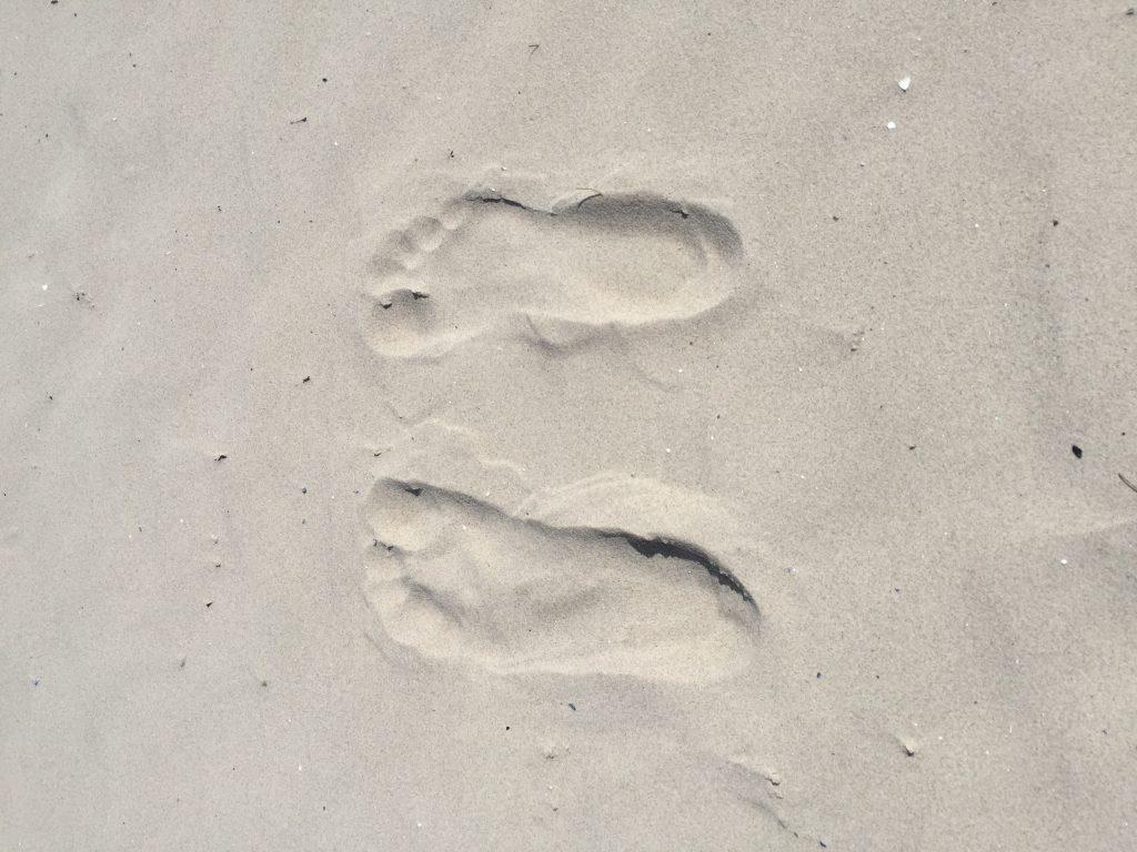 Många och långa promenader på stränderna på Gotland!