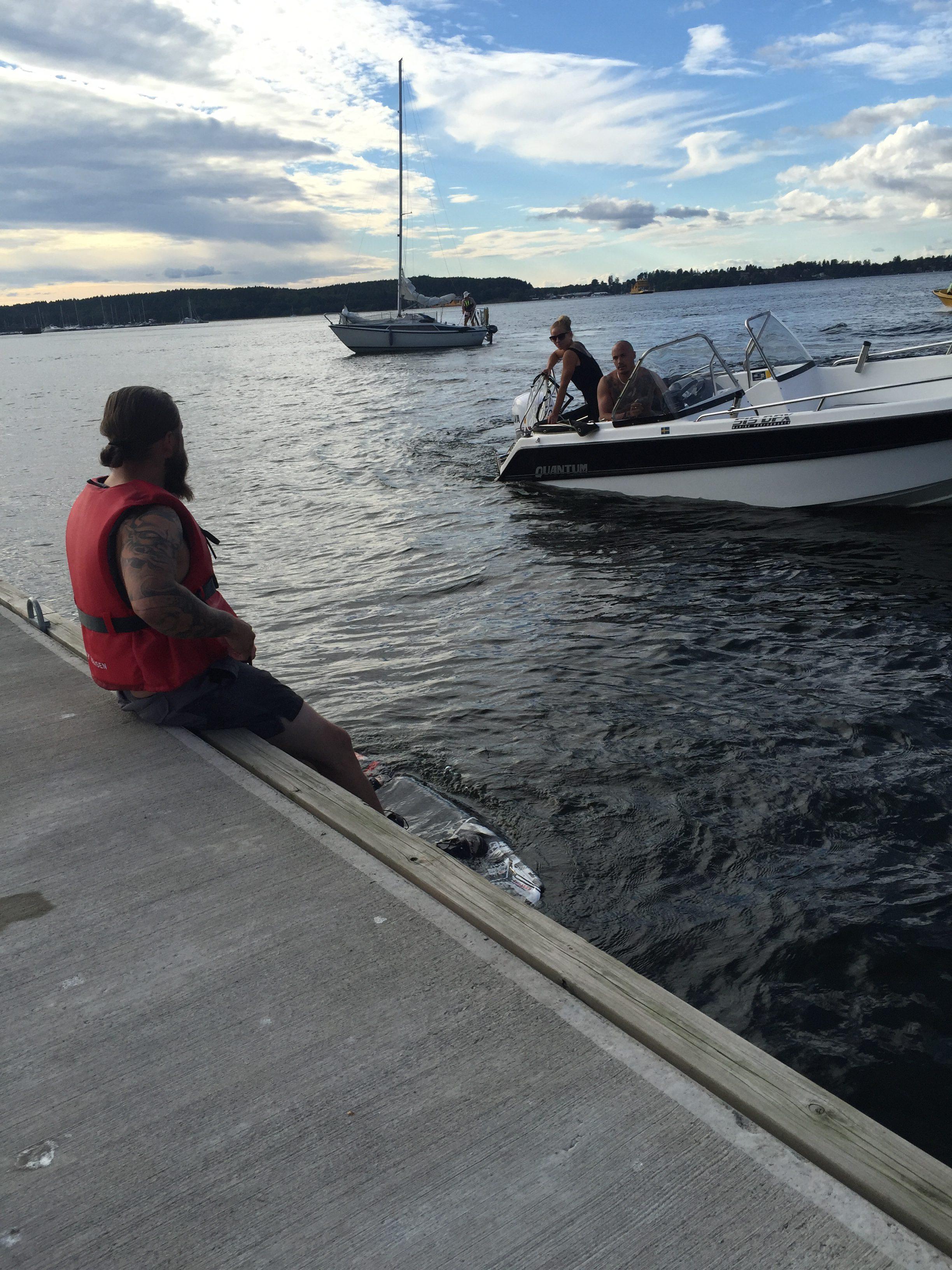 Många båtturer och lite wakeboard ( jag hoppade över wakeboarden och höll mig i båten ?)