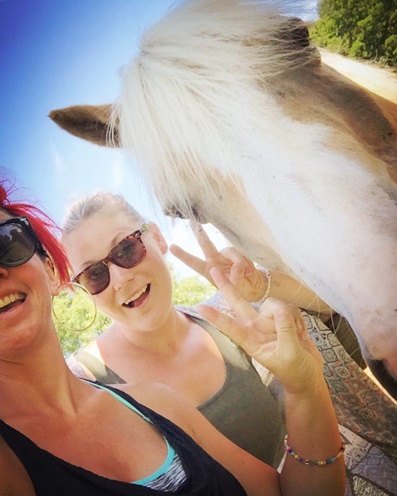 Besök hos bästa Sabina och hennes familj i Kalmar! Hästen är inte hennes familj... Utflykt till djuren och go' fika